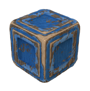 Procedural wood with flaked paint