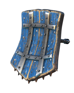 Procedural wood with flaked paint example