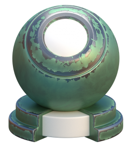procedural flaked paint on metal